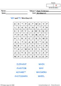 5 Images of WH Word Search Printable