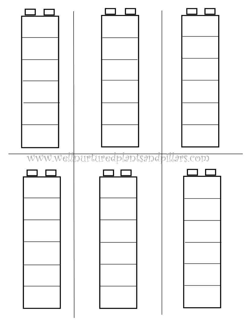 5 Images of Free Printable LEGO Patterns