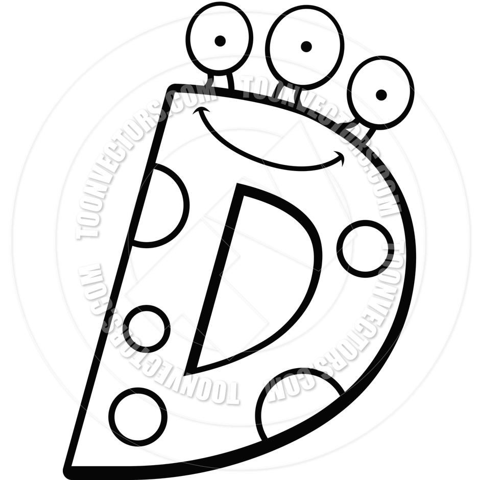 Letter D Clip Art Black and White
