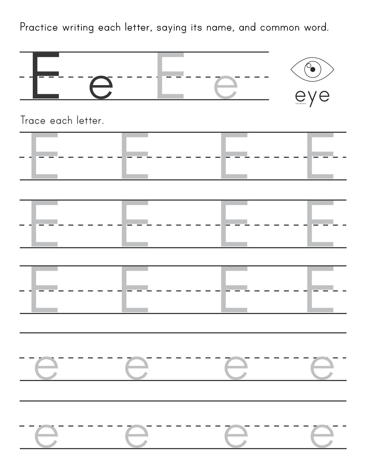 Printables Letter E Worksheets For Preschool number names worksheets for the letter e free preschool on e