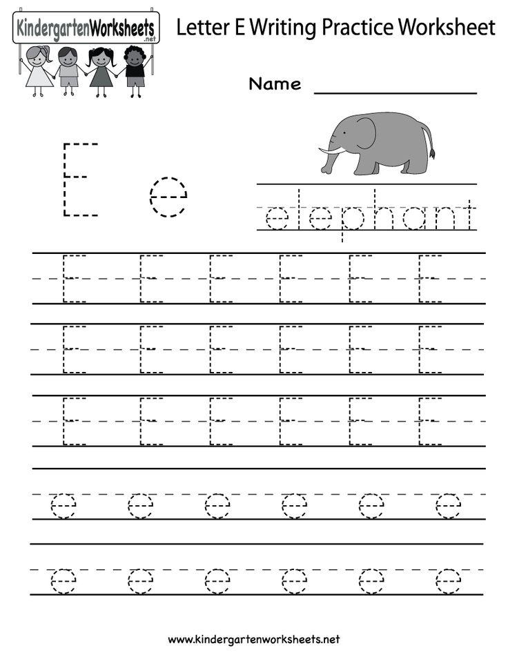 Preschool Worksheets Letter E - Letter E Tracing Worksheets Preschool ...