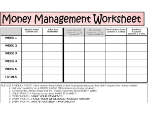 7 Best Images of Printable Basic Money Management - Monthly Money ...