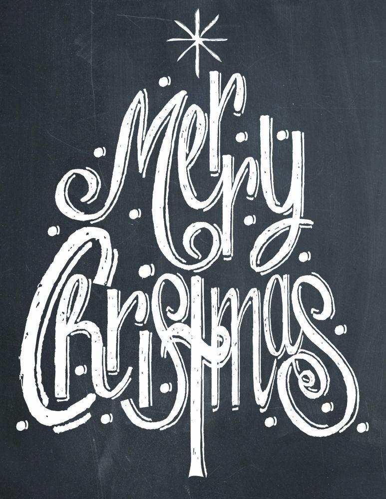 Merry Christmas Chalk Printables