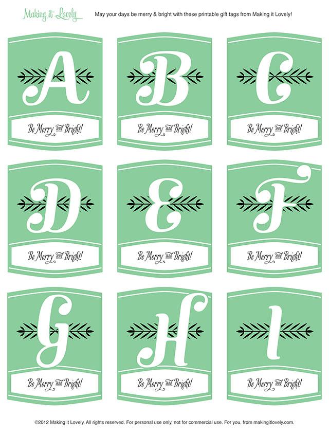 8 Images of Free Printable Monogram Tags
