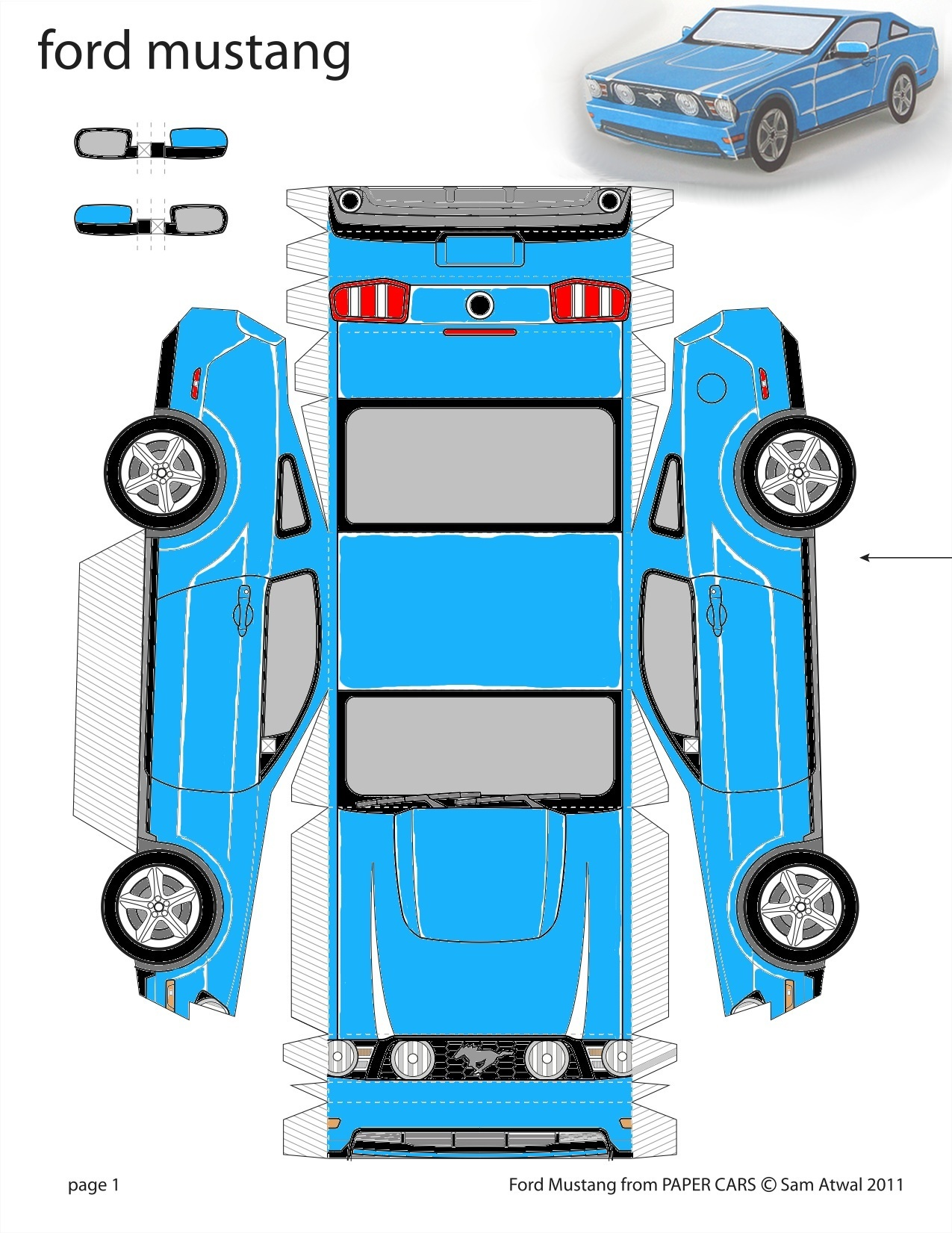 5 Images of Paper Car Templates Printable