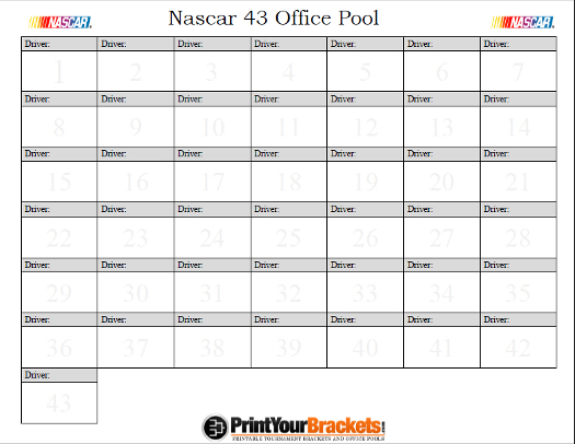nascar cin super bowl 2016 pool sheet