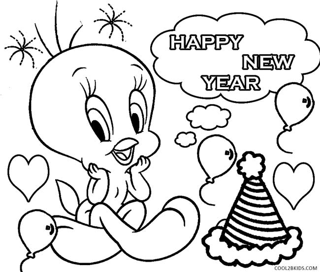 6 Images of New Year's Coloring Pages Printable