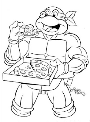 5 Images of Happy Birthday Ninja Turtle Coloring Page Printable