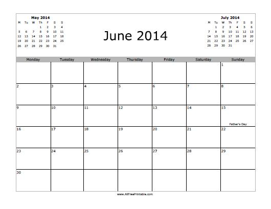 7 Images of Printable Calendars April 2014 Through July 2014