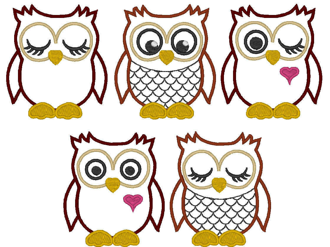 Best images of cute owl applique printable