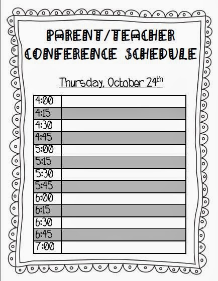 parent teacher conference for preschool 8 best images of printable schedule free 862