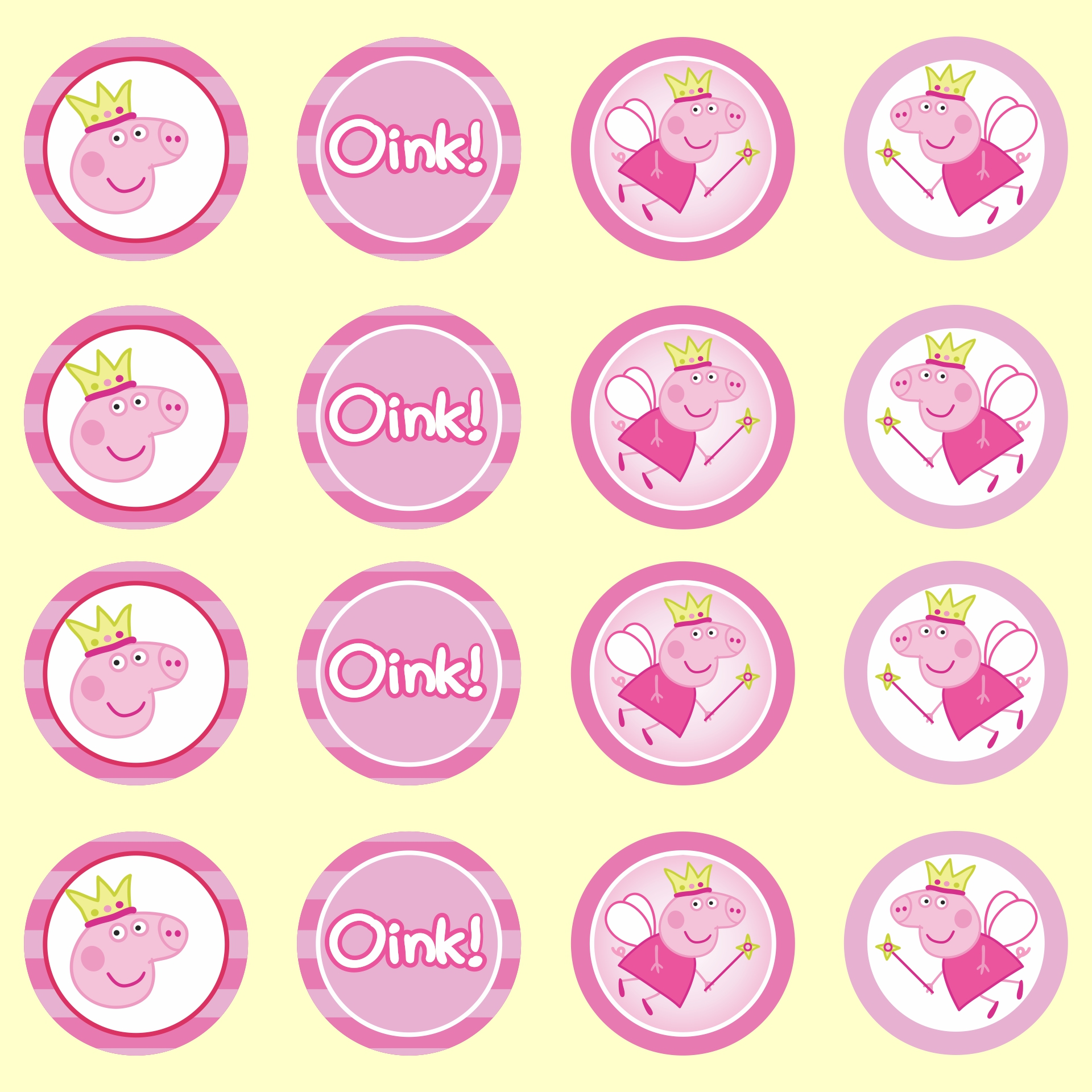 6 best images of peppa pig cupcake toppers printable for Peppa pig cake template free