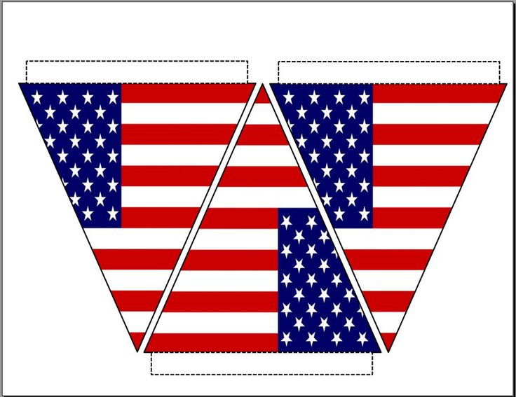 8 Images of American Flag Bunting Printable