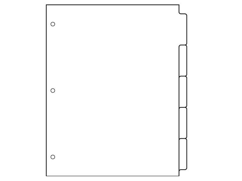 6 Images of Binder Divider Tabs Printable