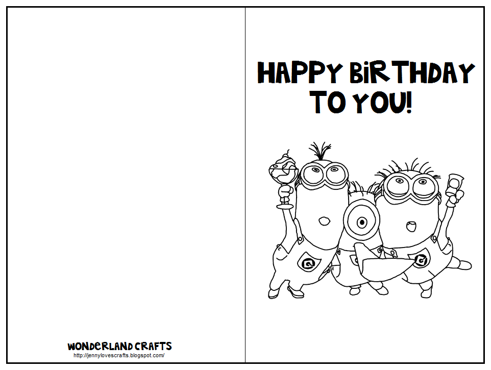 7 Images of Printable Folding Birthday Cards Coloring