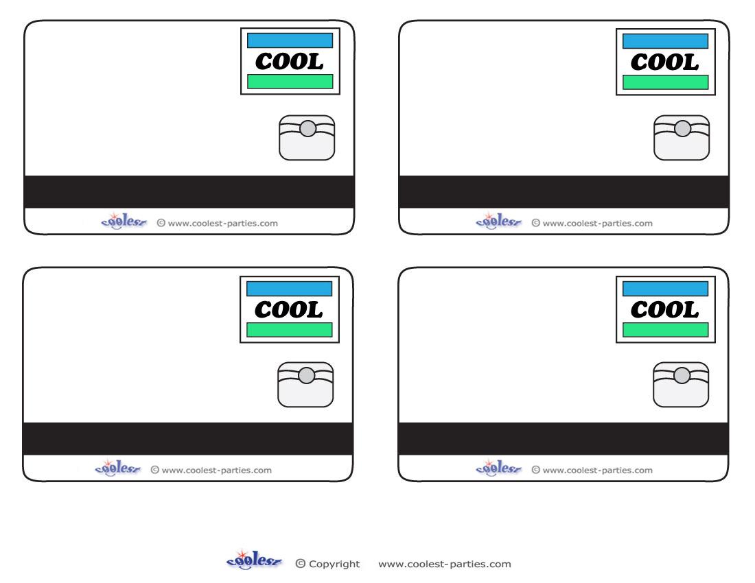 Printable Blank Credit Card