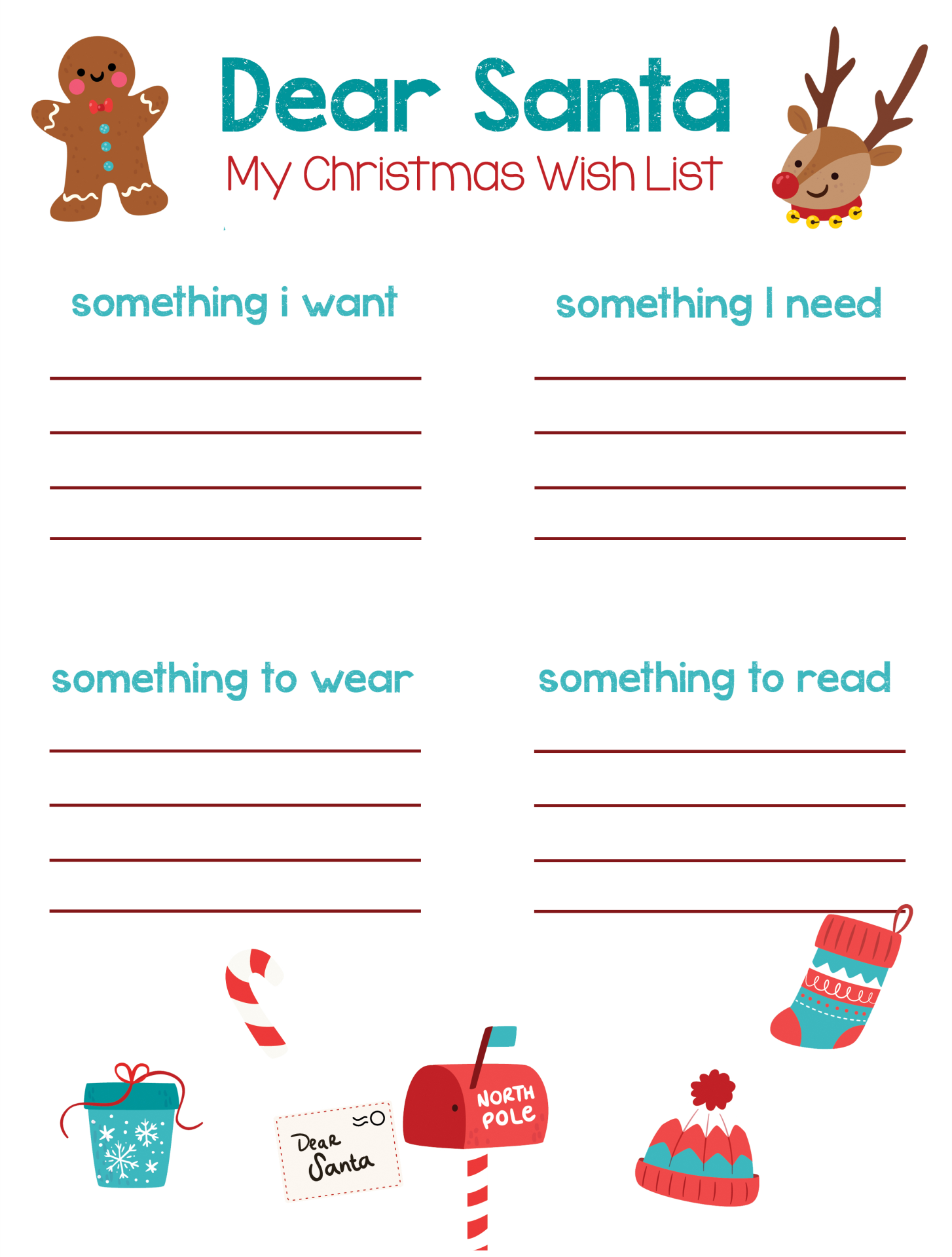 Printable Christmas List Maker