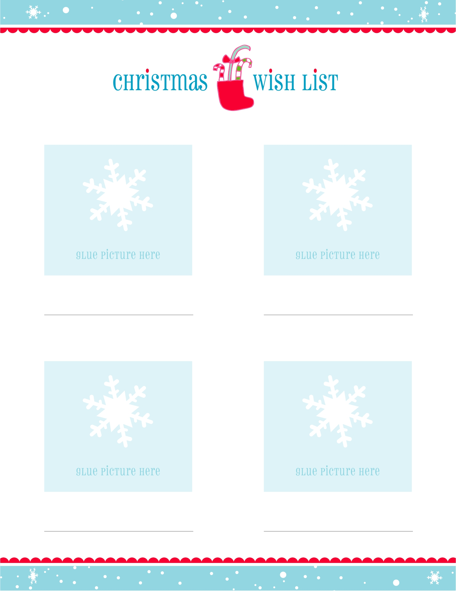 5 Images of Free Printable Christmas List Maker
