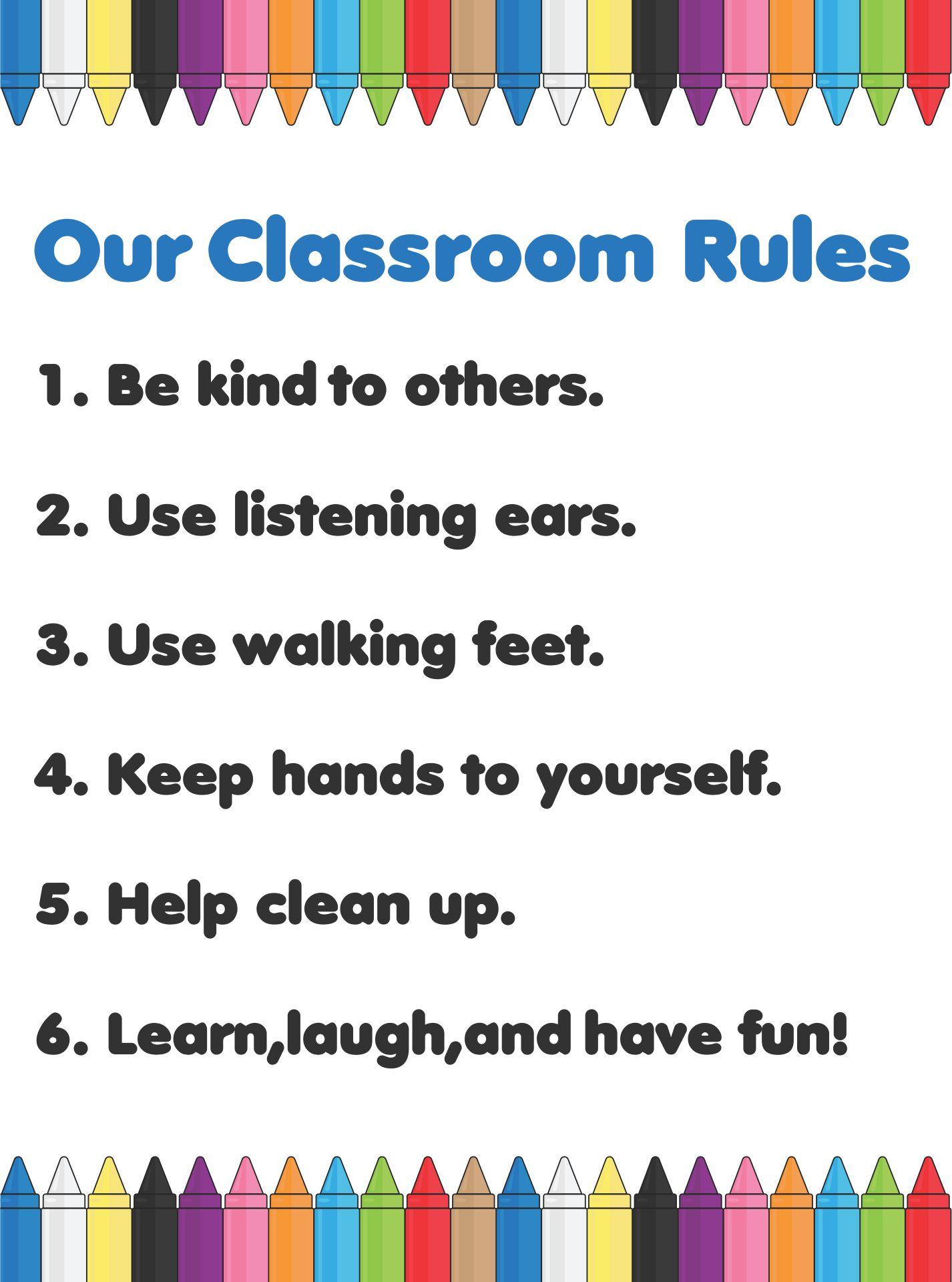 printable classroom rules for preschoolers 255678 - Pre Kindergarten Classroom Rules