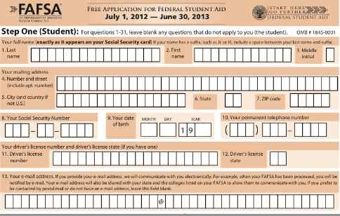 8 Images of Printable FAFSA Application 2012 13