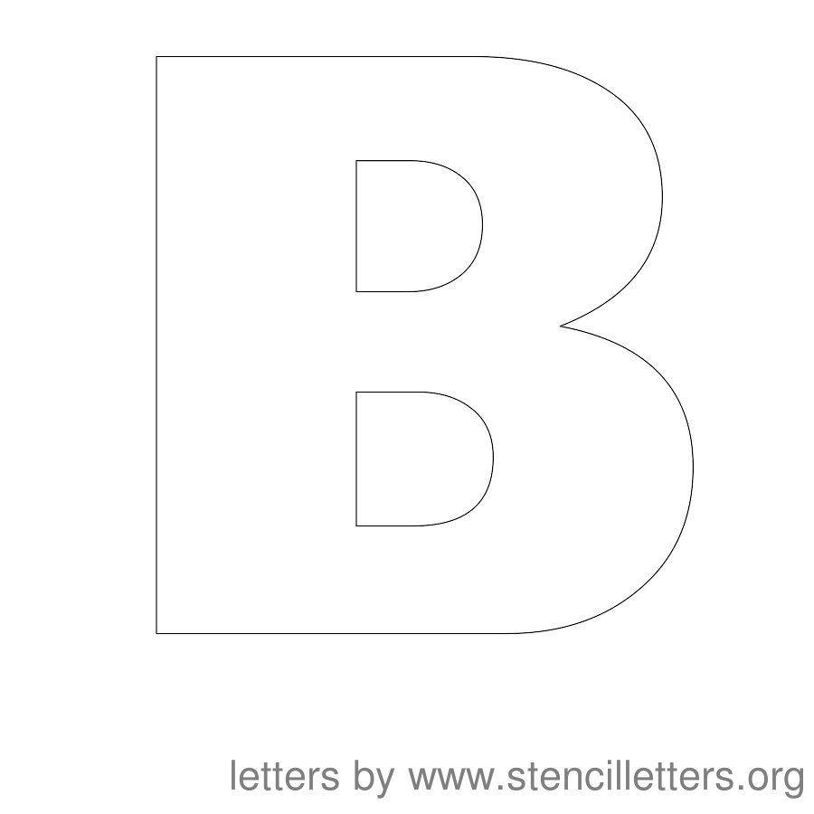 7 Images of Printable Block Letter Stencils B