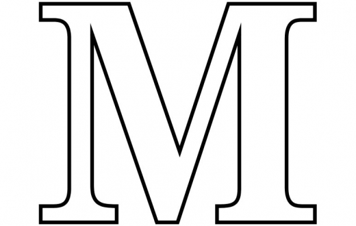 4 Images of Capital Letter M Printable Coloring Pages