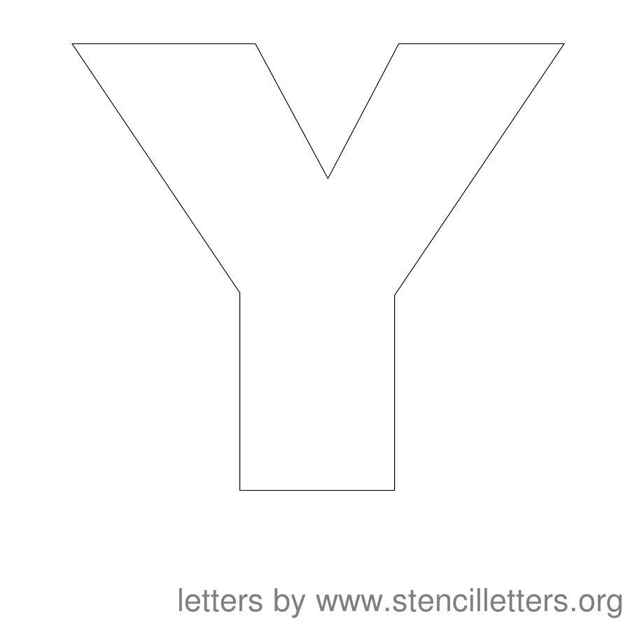 4 Best Images Of Printable Block Letter Y