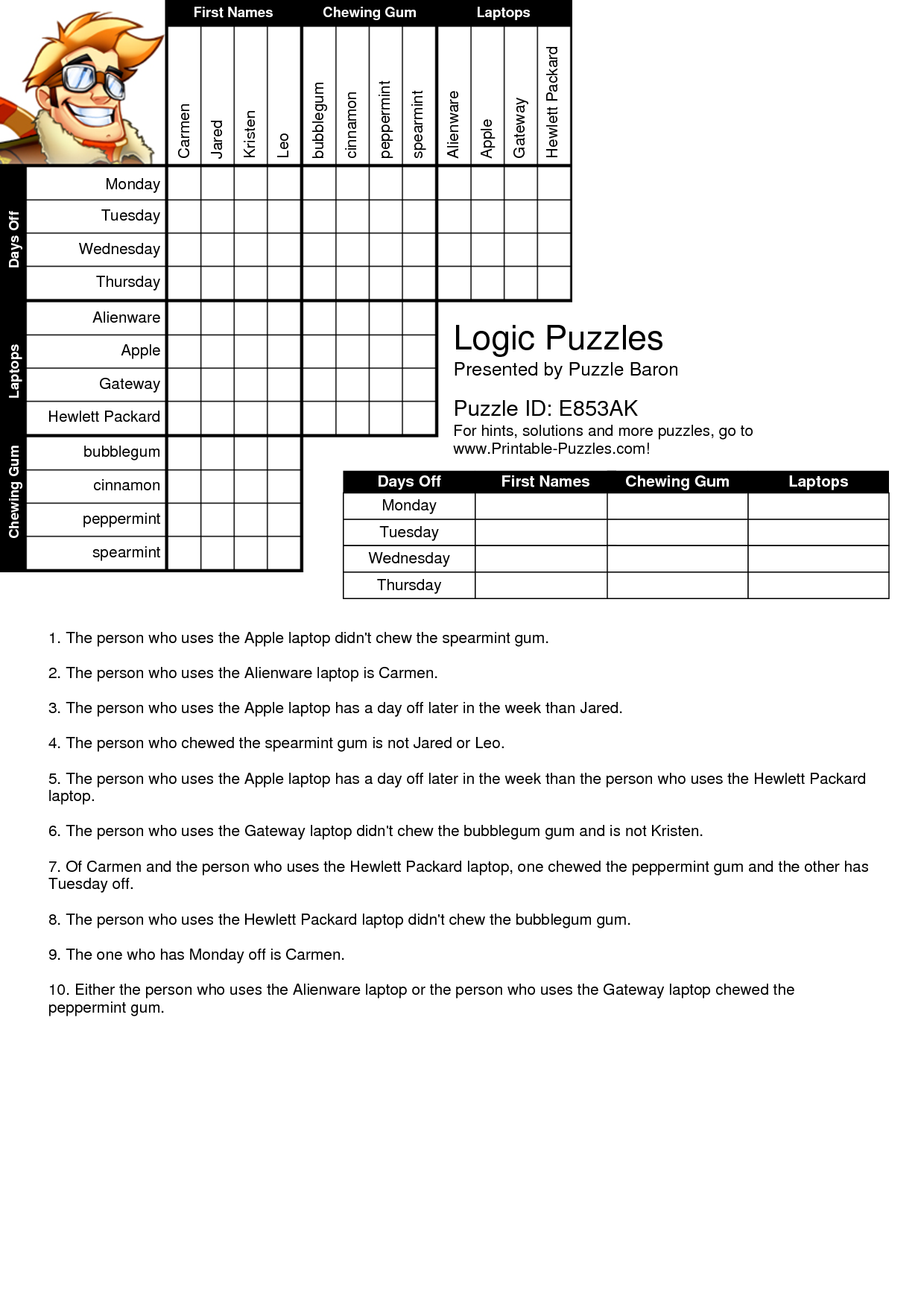 geometry logic worksheets with answers coordinate