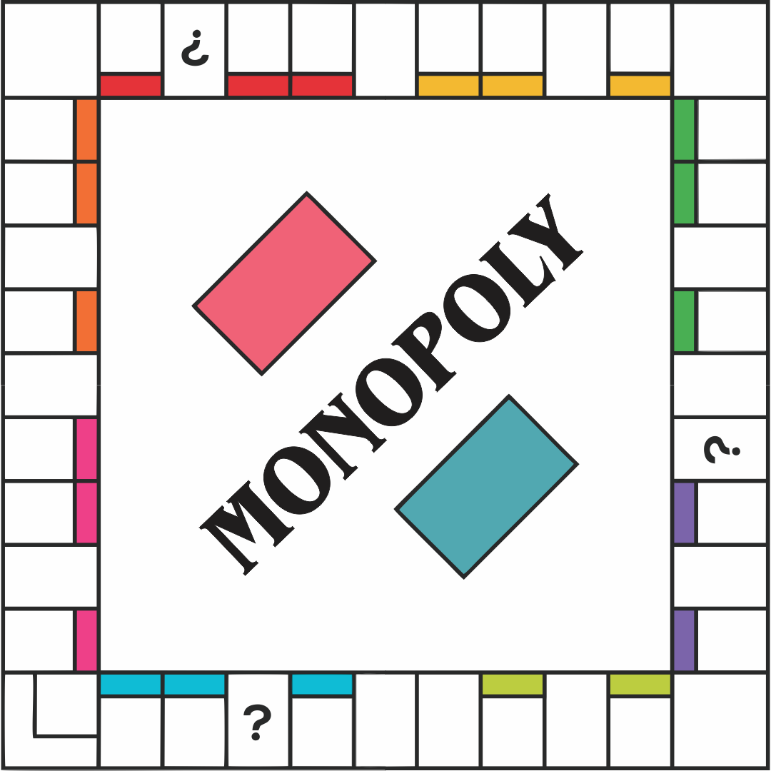 Printable Monopoly Game Board Template