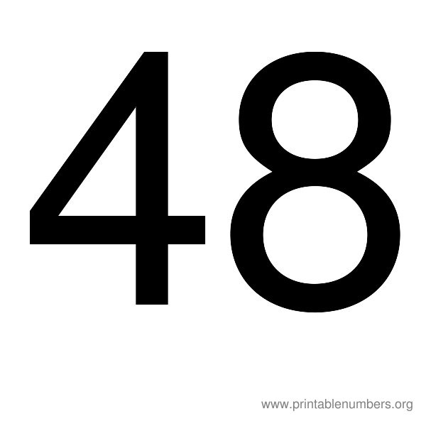 9 Images of Printable Number 48