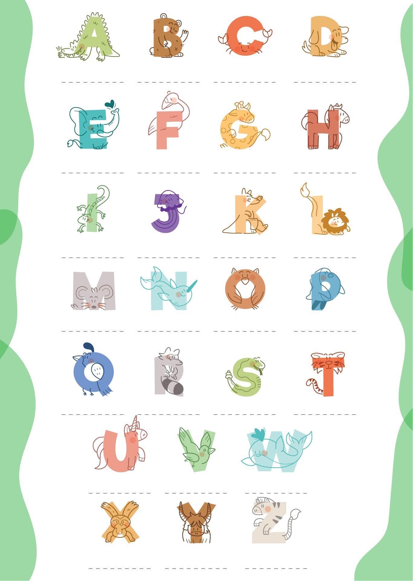 Printable Preschool Alphabet Letter Worksheets
