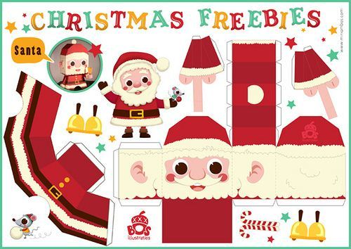 Printable Santa Claus Papercraft