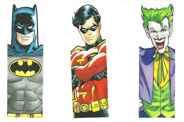 7 Images of Printable Superhero Paper Bookmarks