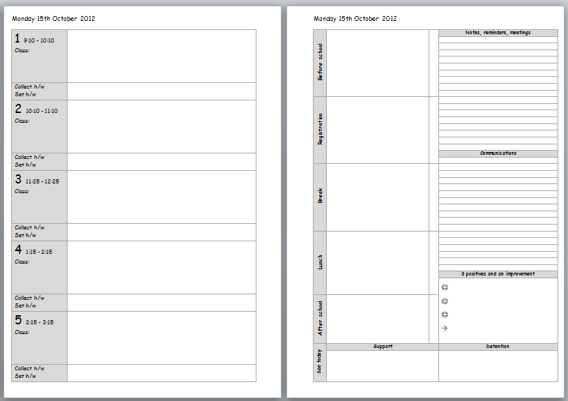 7 Images of Teachers Planner Printable Free