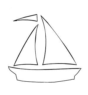 5 Images of Printable Sailboat Cutouts