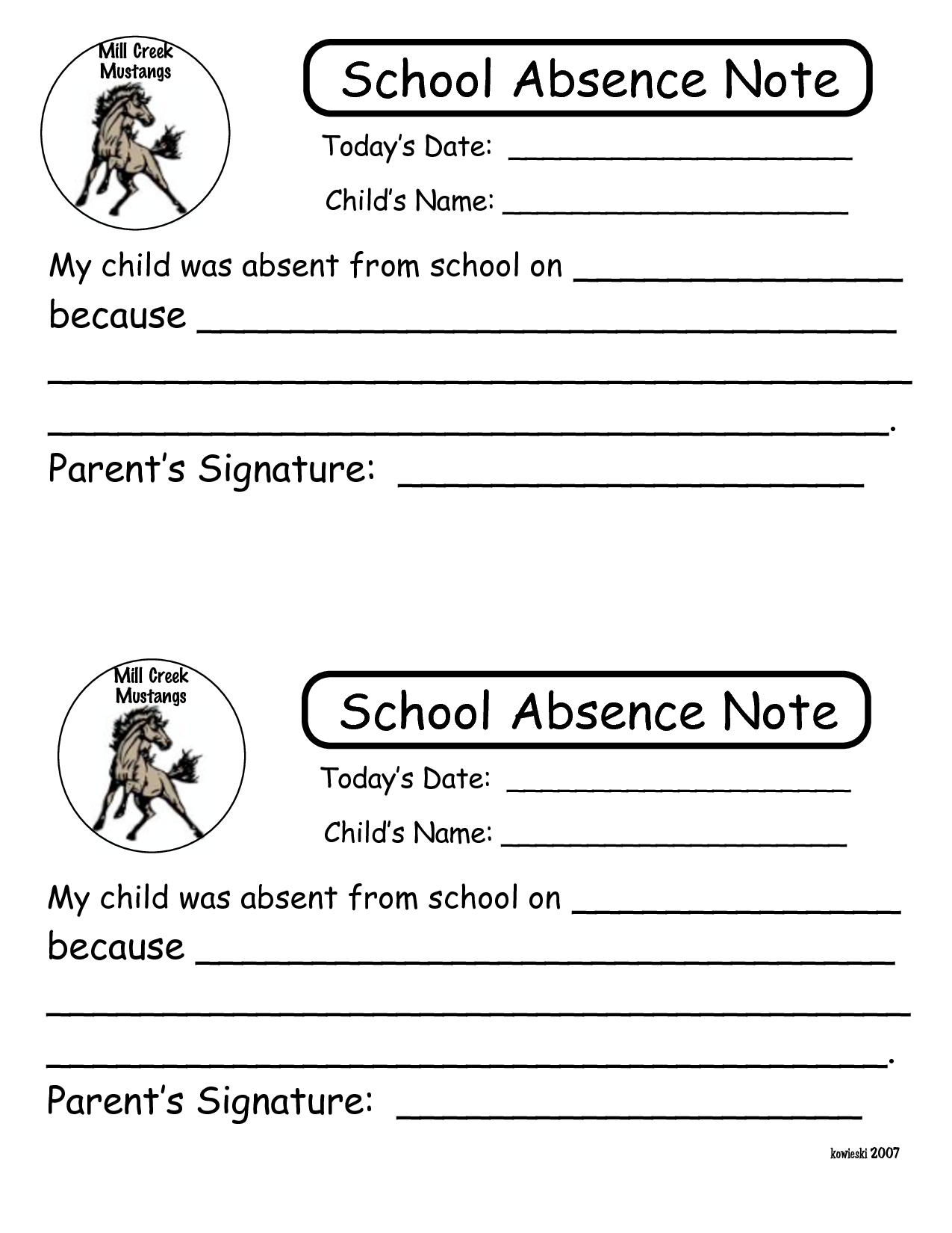 absent notes for school templates - 6 best images of printable notes for school absence