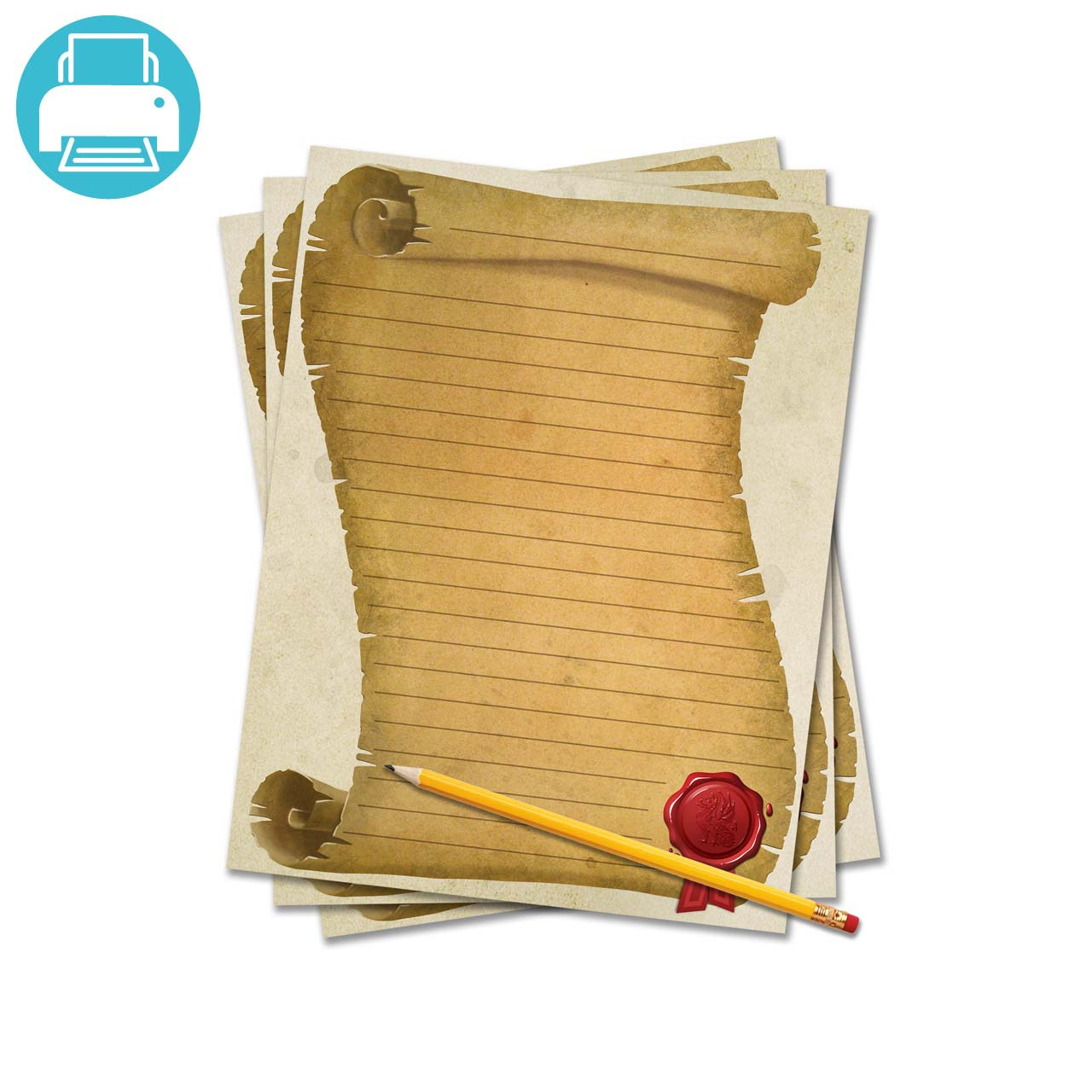 Scroll writing paper