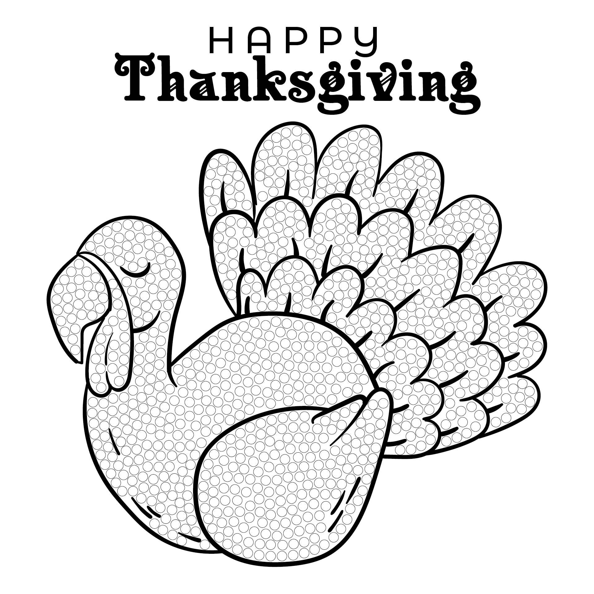 Thanksgiving Bingo Dot Marker Printables