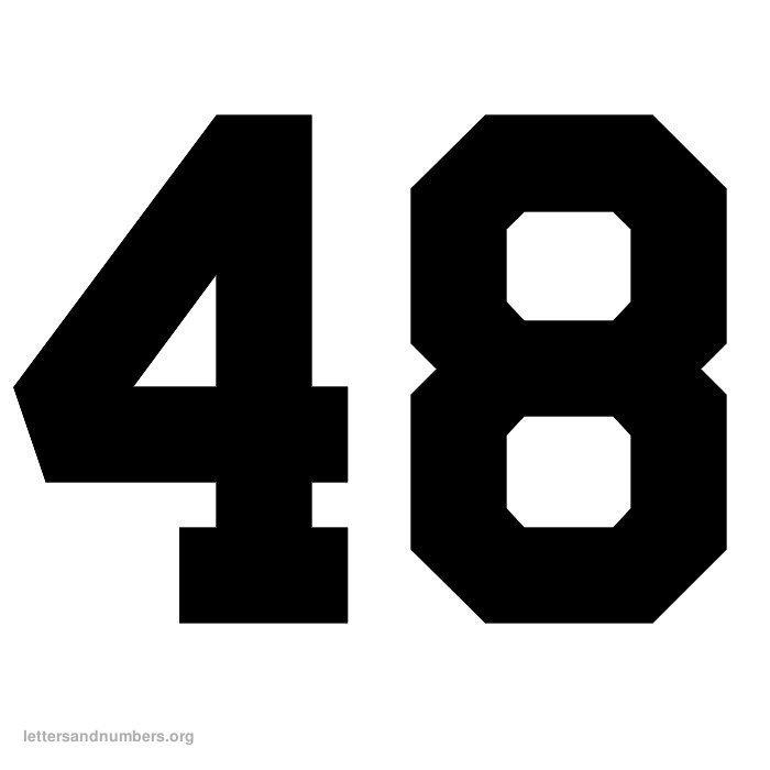 Images of Printable Number 48 - Printable Number 1, Printable Number ...