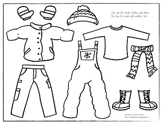 5 Images of Winter Clothes Pattern Printable