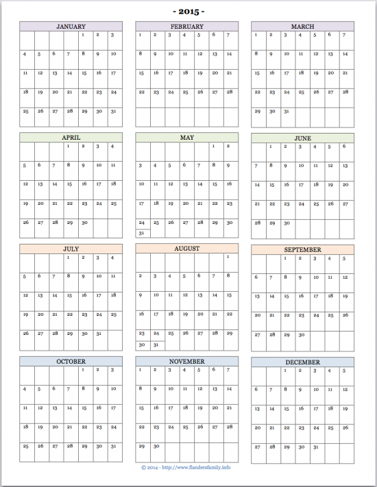 8 Images of At A Glance 2015 Printable
