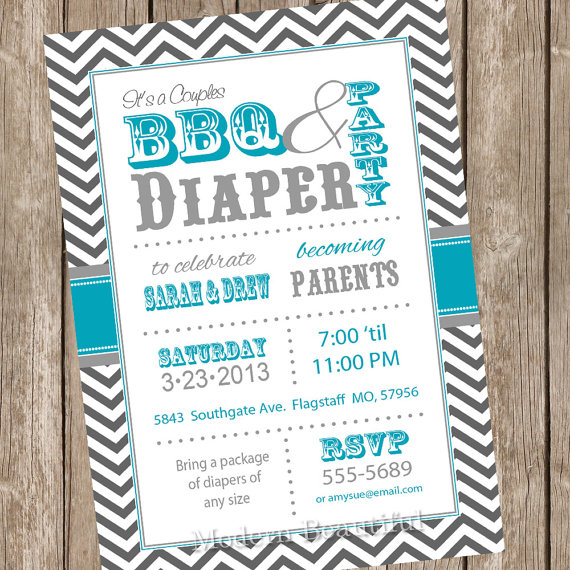 Free Printable Diaper Party Invitations could be nice ideas for your invitation template