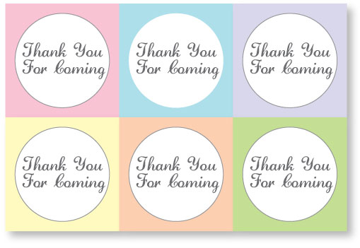 This is a graphic of Printable Thank You Labels pertaining to fill in blank