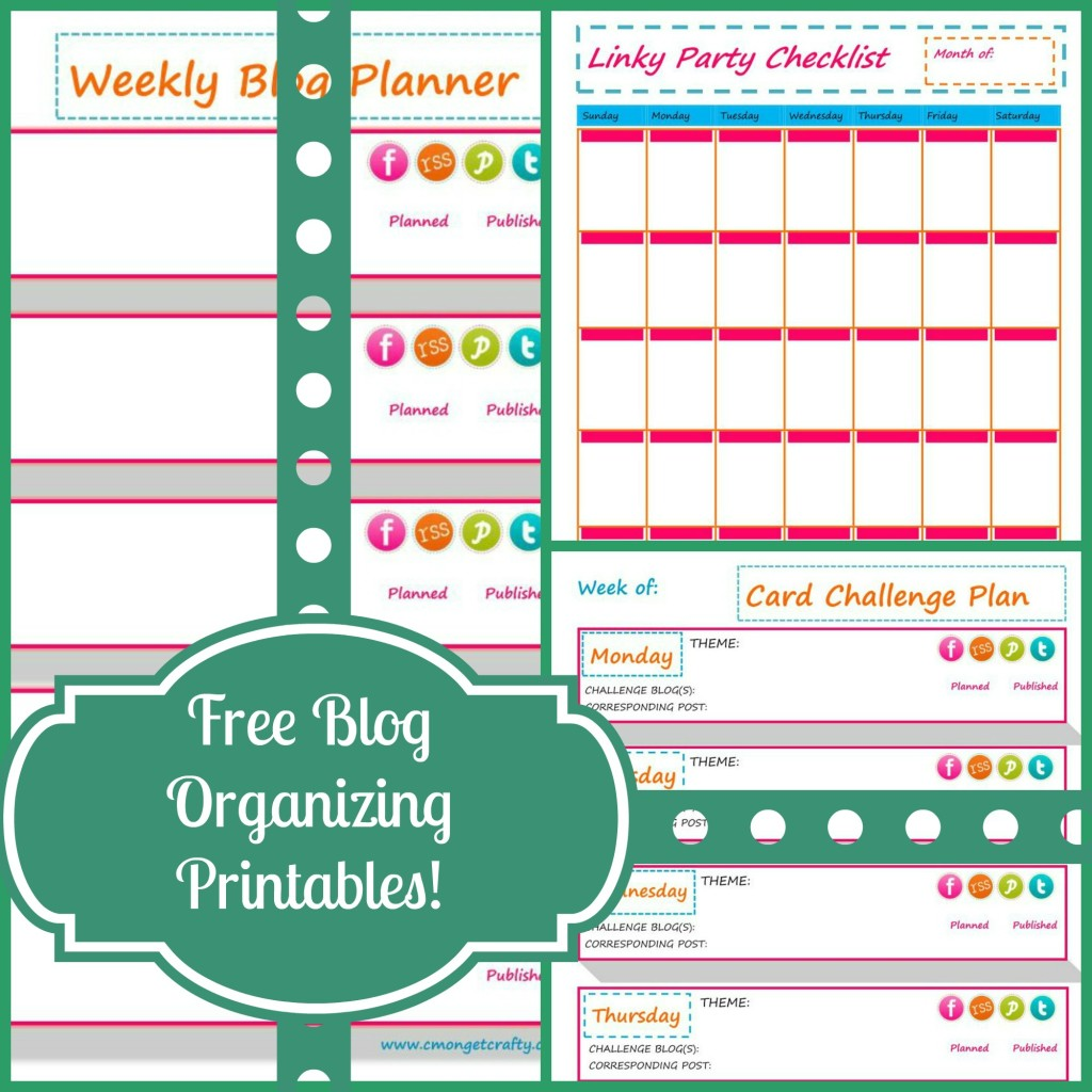 5 Images of Free Organization Printables