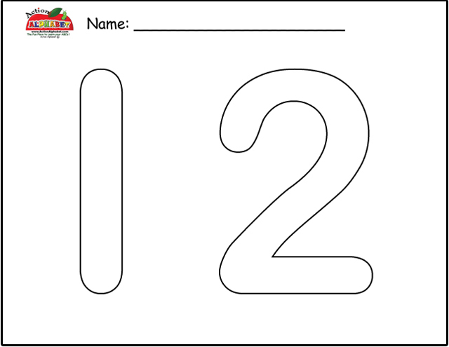 6 Best Images Of Printable Bubble Number 2 Letter