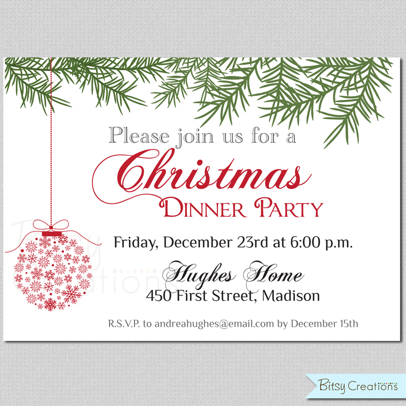 7 best images of free printable christmas dinner invitations christmas dinner invitation. Black Bedroom Furniture Sets. Home Design Ideas