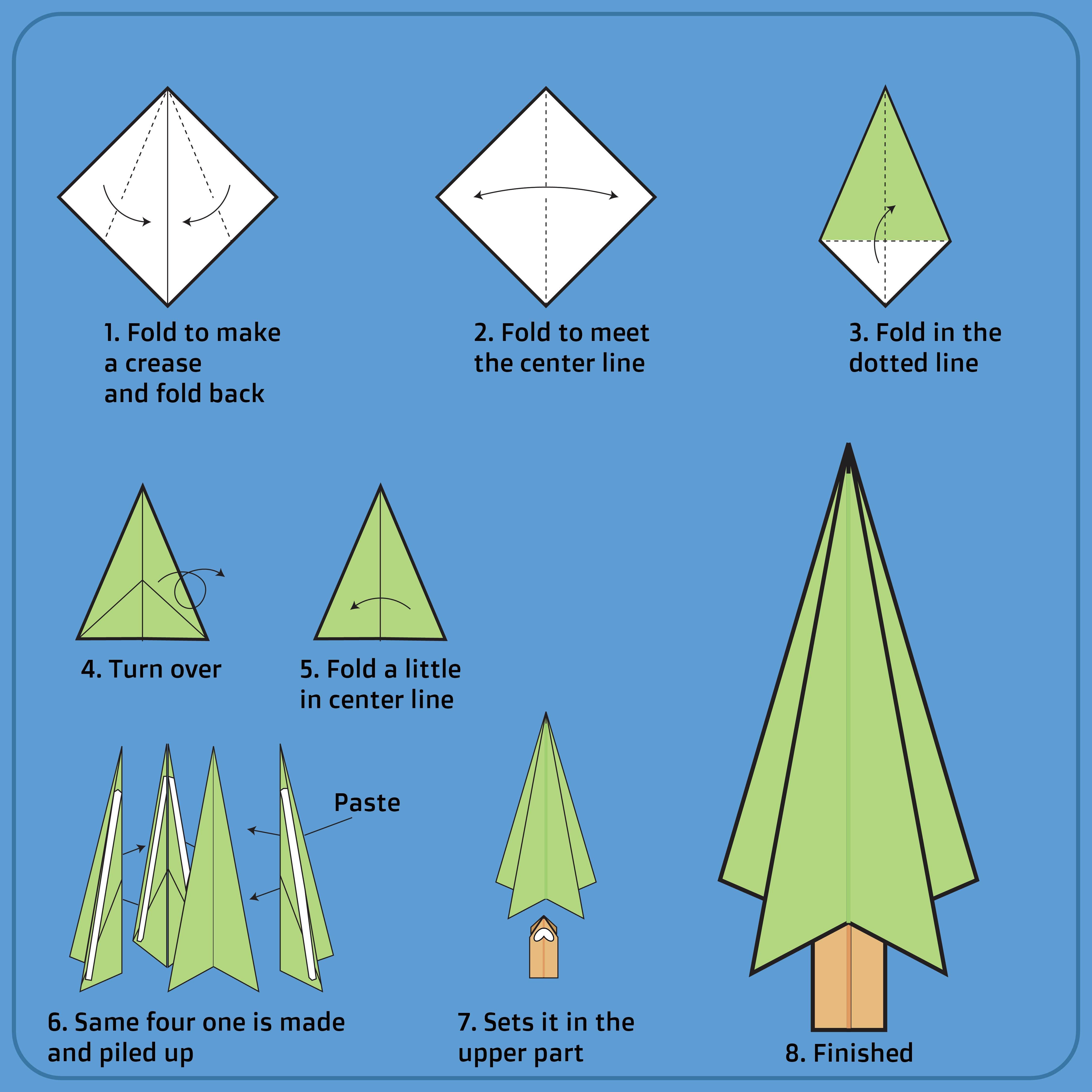 Christmas Tree Origami Instructions