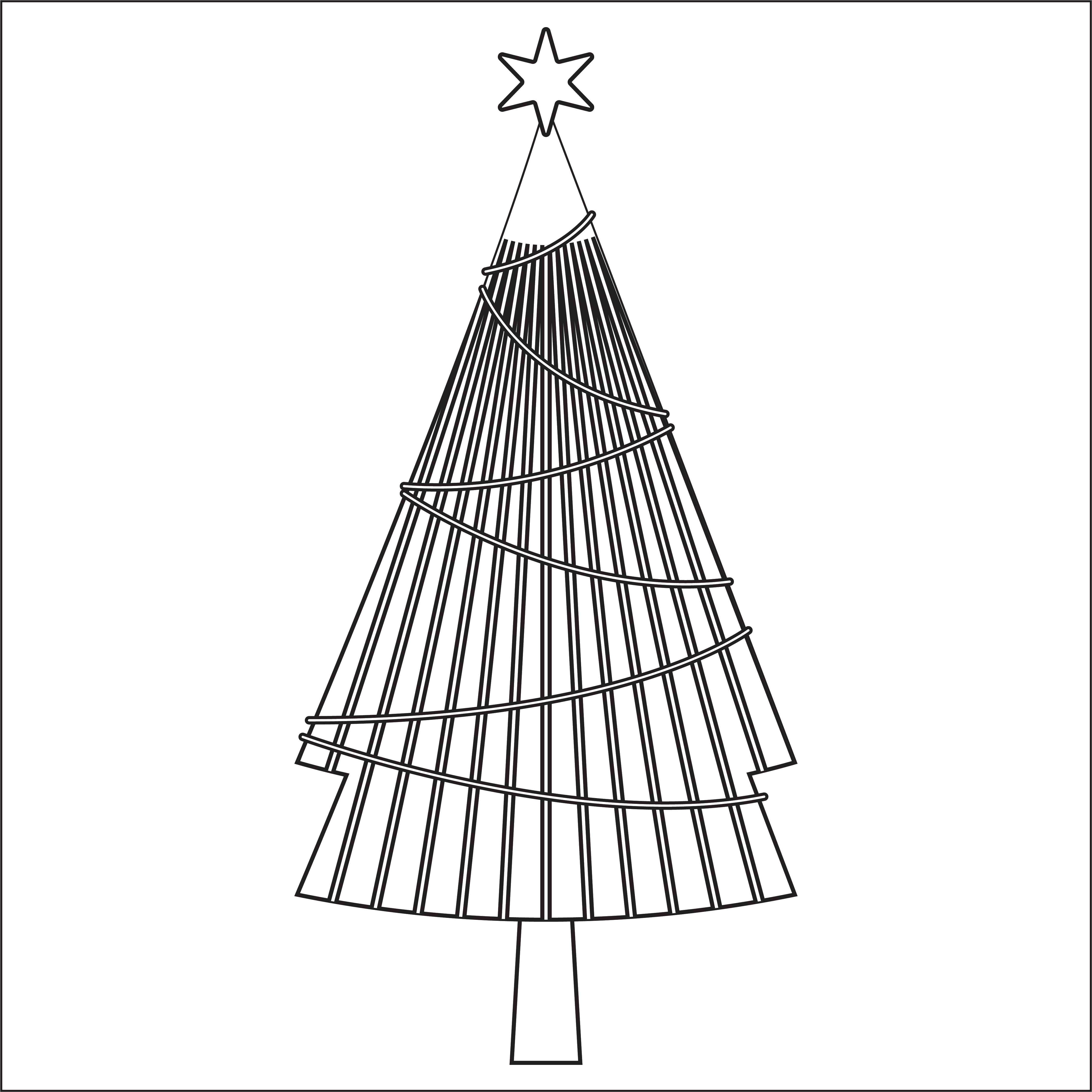 4 Images of Folded Christmas Tree Printable Templates