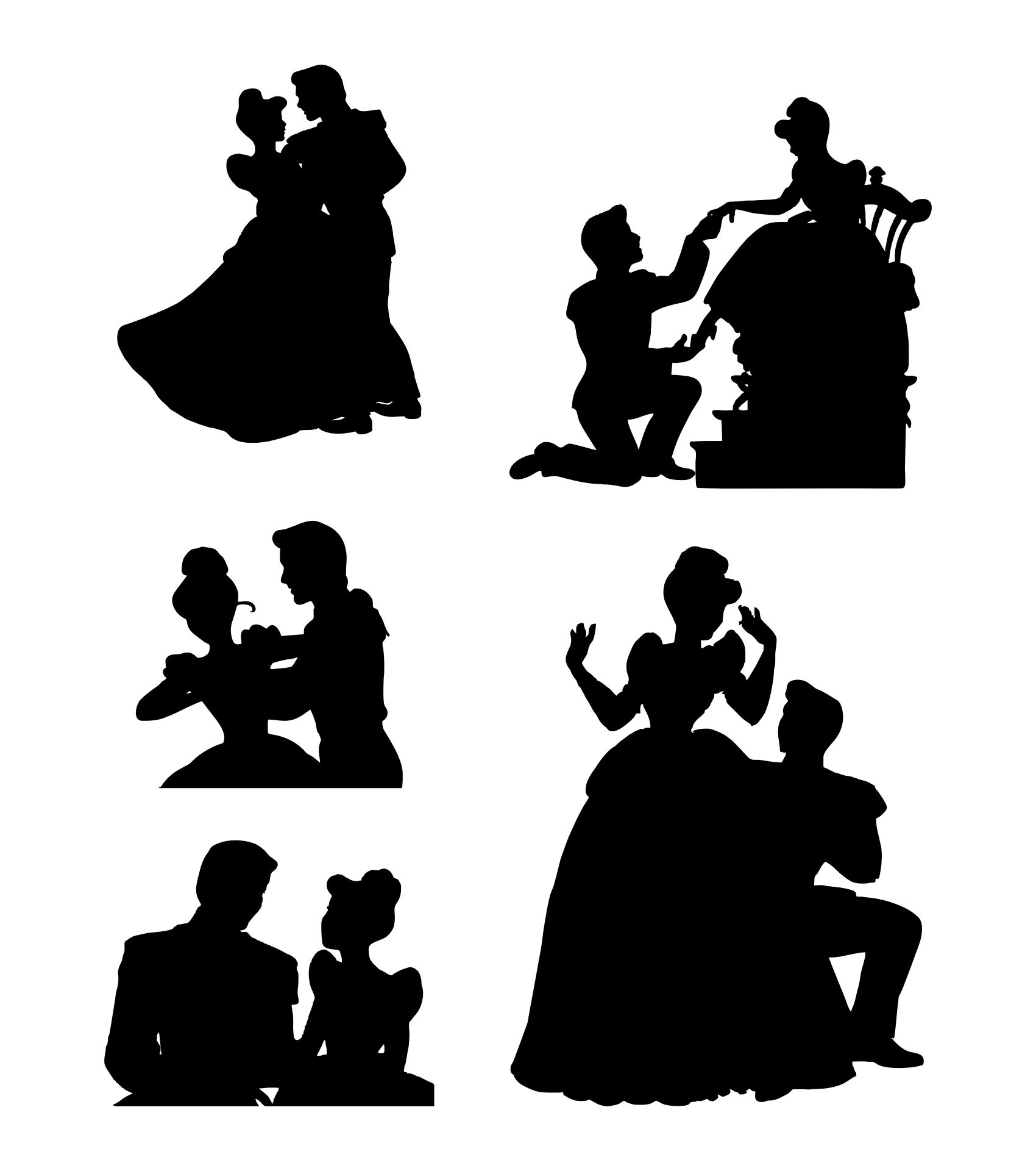 Cinderella and Prince Charming Silhouette