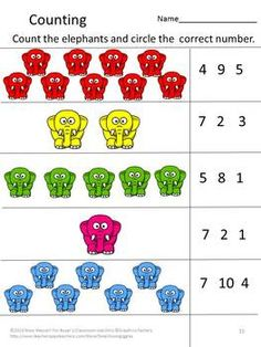 Printables Pre Kindergarten Math Worksheets 6 best images of circus pre k printables kindergarten preschool worksheets